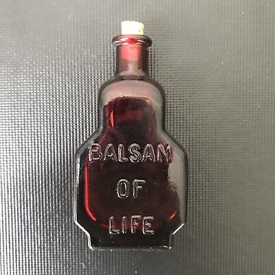 vintage red Wheaton mini-bottle Balsam Of Life The King's Patent with cork