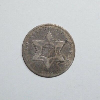 1859 3 Cent Silver    rr4