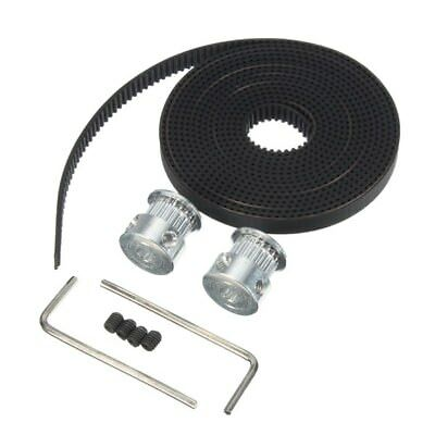 RepRap GT2 20T 5mm Bore Pulley 2M Timing Belt Kit For 3D Printer Prusa