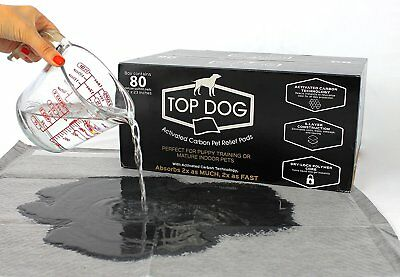 "22"" x 23"" Dog Pads Indoor Puppy Pet Wee Pee Training Potty Pad - Black Carbon"