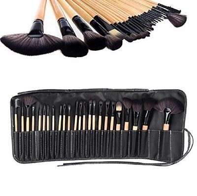 NEW 24 Pcs Professional Make Up Brush Set Foundation Kabuki Makeup Brushes Khaki