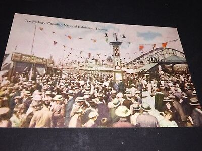 Vintage The Midway Canadian National Exhibition Toronto Canada Postcard