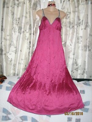 Vtg Silky Nightgown Flowing Rich Grape Med.