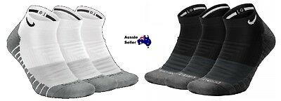 NEW! Nike Dry Cushioned Low Dri-Fit Various Sizes White or Black Socks SX6965