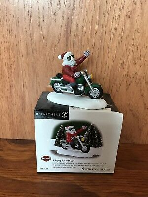 Dept 56 North Pole Series A Happy Harley Day 56706 Heritage Village Christmas