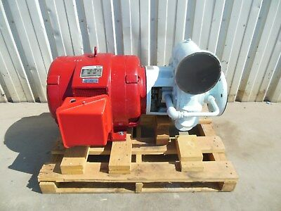 MARATHON 100 HP ELECTRIC w CORNELL WASTE WATER PROCESS TURBINE PUMP w GENERATOR