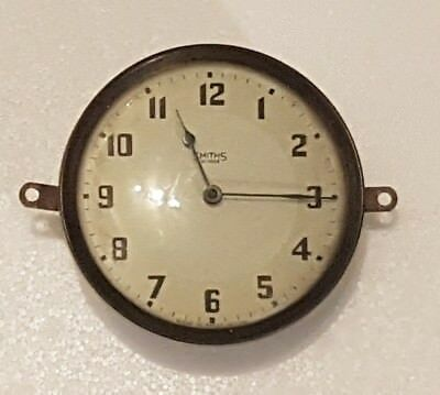 Antique Vintage Art Deco Smiths Clock 30 Hour Wind Up Spares And Repairs