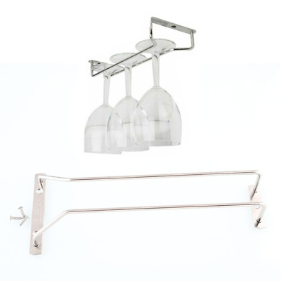 "28cm/11"" Wine Glass Rack Under Cabinet Hanging Stemware Holder Hanger Shelf Bar"