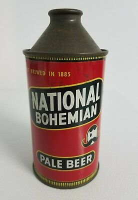 Vintage National Bohemian Pale Beer Egghead Conetop Beer Can Baltimore, MD