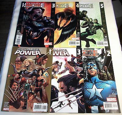Marvel Ultimate Power #1, 3 Ultimate Nightmare #2 3 4 5 Avengers X-Men Lot of 6