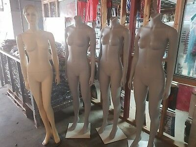 Female Mannequin - $75 each. 2 Available. 1 grey 1 beige.
