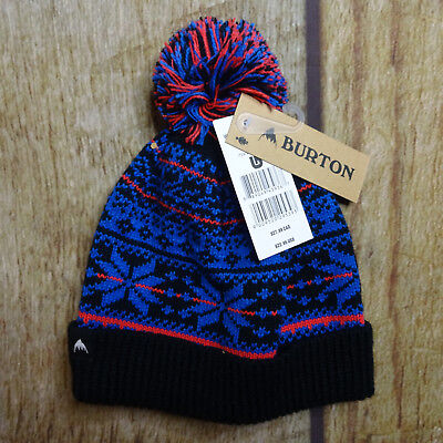 32332bfb251 NEW Burton McKenzie Beanie Knit Hat Women s O S True Black Fair Isle Pattern