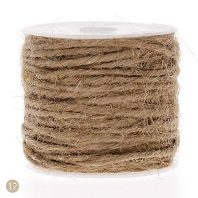 Hot 1Pc  DIY Color Hemp Rope 2mm Natural Craft Jute Rope Cord Thick String #OZ08