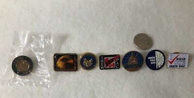 Lot Of Vintage IBEW PAC PINS (7)