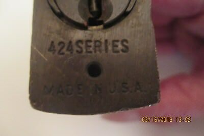 Vintage Yale  Brass Padlock With  3   Keys * Works Great * Antique Lock