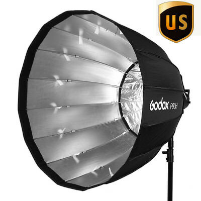 US Godox P90H 90cm Deep Parabolic Bowens Ring Softbox High-Temperature Resistant