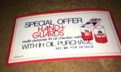 Coupon ONLY Vintage international harvester Hand I Guards Oil Checkin Mitts oil