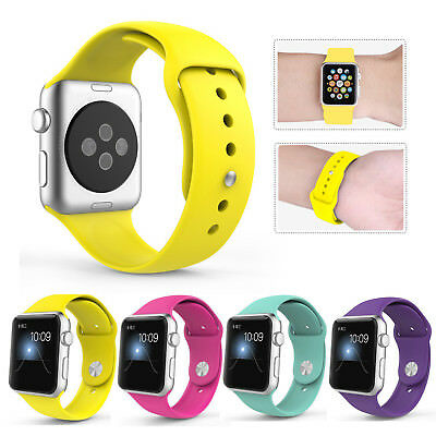 Sports Silicone Bracelet Strap Band For Apple Watch iWatch Series1-3 38/42MM