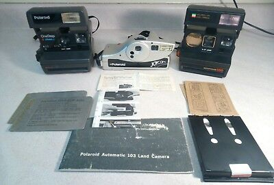 AS-IS Polaroid Lot - 3 Cameras & Misc. Bits - UNTESTED - FOR PARTS/REPAIR