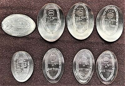 Puerto Rico Elongated Coins on different Host Coins (lot of 8)