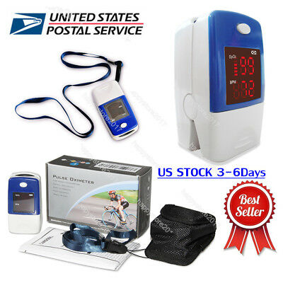 US Stock CMS50L  Finger Pulse Oximeter Blood Oxygen SpO2 PR Monitor LED