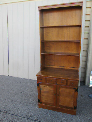 58889  Ethan Allen Cabinet with Bookcase Top