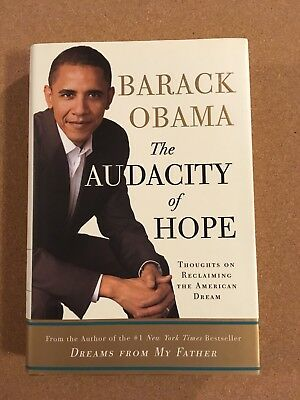 Barack Obama Signed Book. The Audacity of Hope. 1st Edition. Autographed Book.