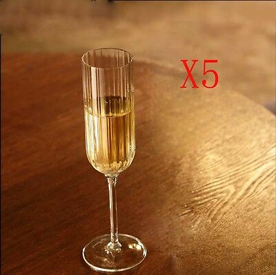 New 5X Capacity 210ML Height 235MM High Foot Champagne Wine Glass/Glassware %