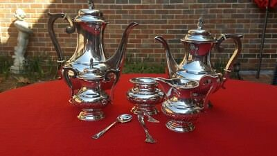 Sterling Tea and Coffee Service Set Vintage 1950s Japanese 950 Silver