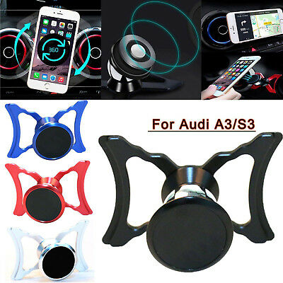 360 Rotating Magnetic Car Air Vent Mount Mobile Phone Holder for Audi A3 / S3 IR