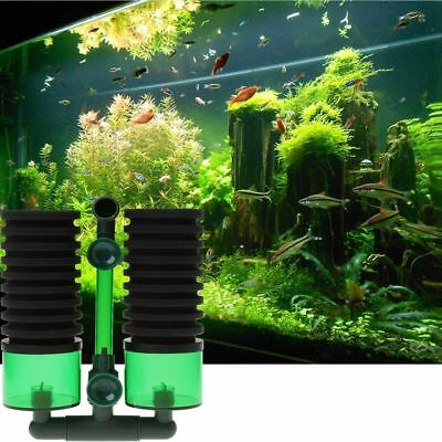 Profession Aquarium Biochemical Sponge Filter Fish Tank Air Pump W/Suction Cup