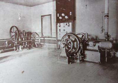 Vintage Photo Stationary Engine Power Plant Electrical Pump Hit Miss Minnesota