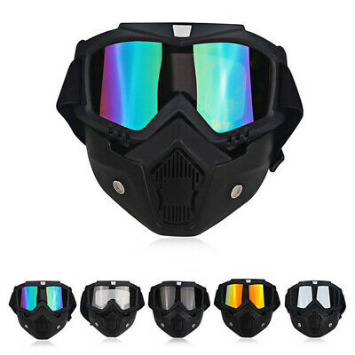 Safety Full Face Shield Cover Mask Detachable Goggles - Eye Protection Glasses