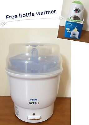 Philips AVENT Express Electric Steriliser + FREE bottle warmer