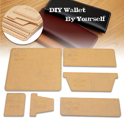 AU YKL-90 Business Acrylic Long Wallet Template Leather Craft Pattern Stencil