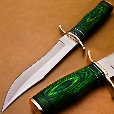 Hand Made Stainless Steel Blade Hunting Knife- Hard Wood - P-1819