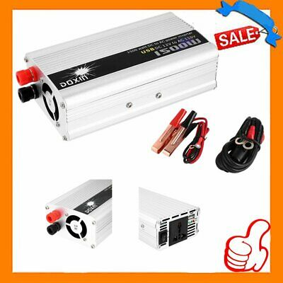 DC 12V to AC 110V Portable Car Power Inverter Charger Converter 1500W WATT US OY