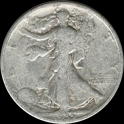 "A 1935 D Walking Liberty Half Dollar 90% SILVER US Mint ""Average Circulation"""