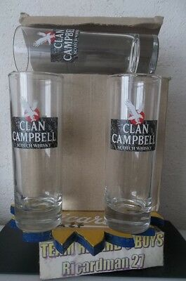 Clan Campbell  WHISKY 6 Verres tubes 22 cl NEUF No Ricard (3)
