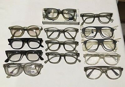 Lot of 13 Vintage Safety Eyeglasses, Sunglasses, Frames & Parts NOS AO