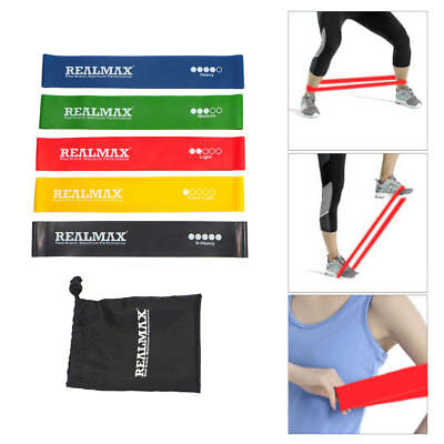 Set of 5 Resistance Bands for Exercise Men and Women Legs Arms Booty Yoga GYM