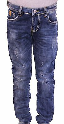 Jeans Bambino Pantaloni Denim Washed 5 Tasche Prim.estate Tg.4/12 Anni