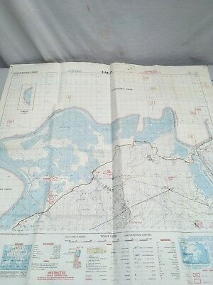 vintage 1980's hong kong military/goverment MOD restricted  map RARE  2-NE-D