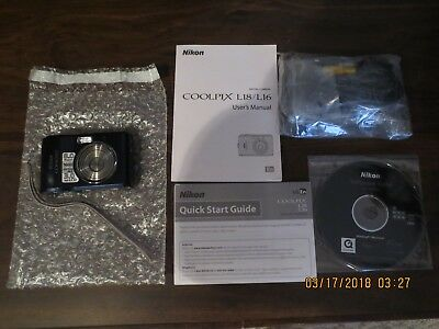 "Nikon COOLPIX L18 8.0MP Digital Camera - Blue 3"" LCD Screen"