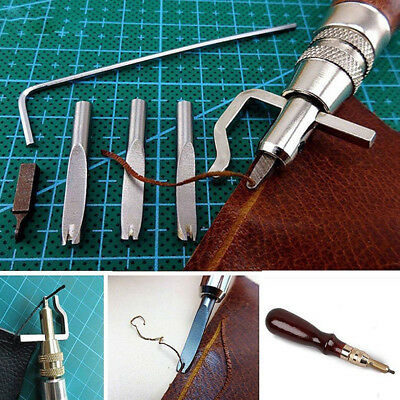 5 in 1 DIY Leather craft Pro Stitching Groover Crease Leather Tool Set