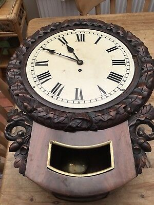 Vintage antique Wall Clock In Need Of Restoring And Repair