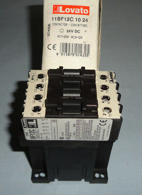 Lovato 11BF12C 10 24 Contactor BF12 10 11BF12C1024 24V DC BF12C NEW