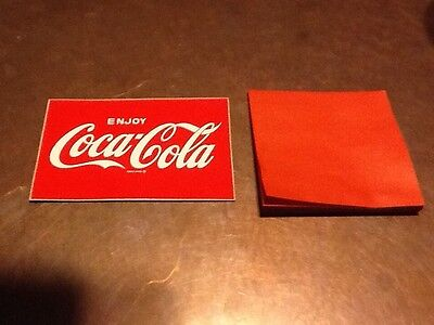 "Coca-Cola Decal  "" ENJOY COCA-COLA"" 1960's  Mint Condition. Free Shipping"