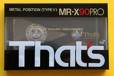 1x THAT's MR-X PRO 90 METAL Cassette Tape 1987-89 + OVP + SEALED +