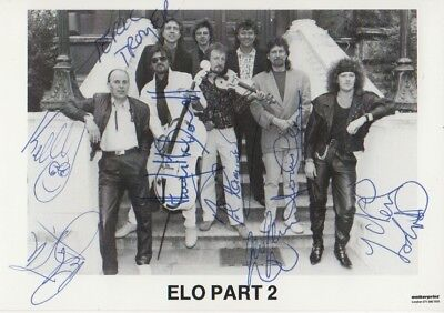 ELO Part 2 Autogramme full signed 10x15 cm Postkarte s/w